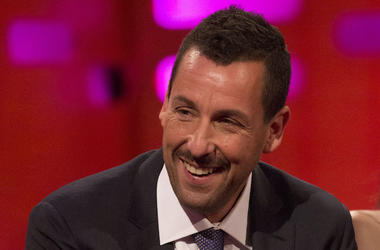 Adam Sandler, Suit, Smile, Mustache, Interview, Graham Nortson Show, 2017