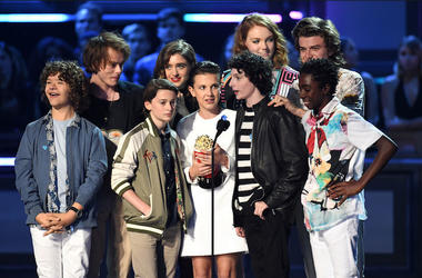 Stranger Things, Kids, Cast, MTV Awards, Golden Popcorn, Acceptance Speech, 2017
