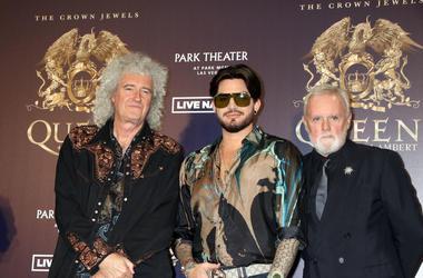 Brian May, Adam Lambert, and Roger Taylor