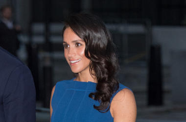 Meghan Markle, Blue Dress, Smile
