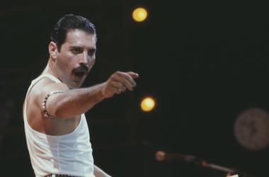 Freddie Mercury, Peforming, Chant, Queen, Concert, Live Aid, Wembley, Color, 1985