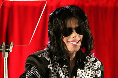 Michael Jackson, Press Conference, Red Curtain, Sunglasses, 2009
