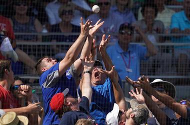dodgers, fan, baseball fan, foul, foul ball