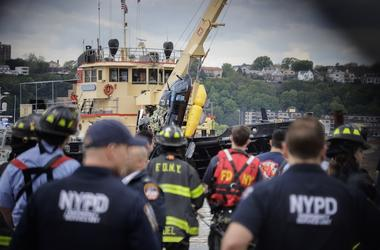 Helicopter, Crash, Recovery, New York, NYPD, Rescue, 2019pter
