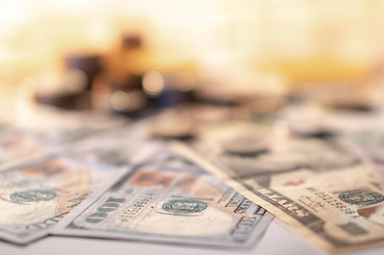 Money, Cash, Bills, Various, Scattered, Currency