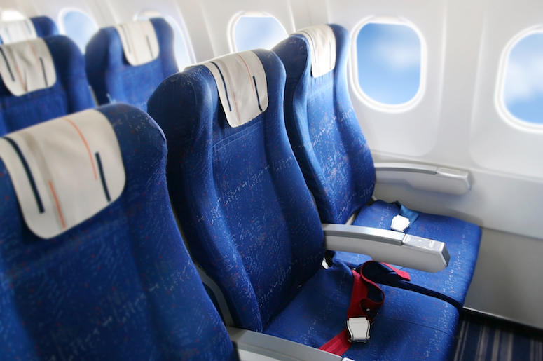 Airplane, Interior, Seats, Row, Cabin
