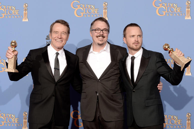 Bryan Cranston, Vince Gilligan, and Aaron Paul