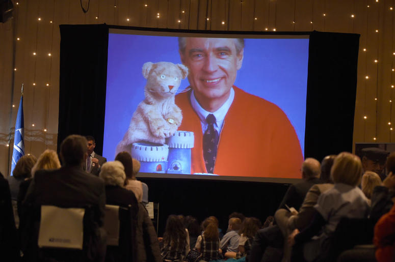 Fred Rogers and Daniel Tiger