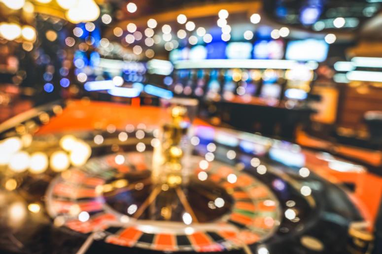 Casino, Defocused, Blurry, Roulette, Neon Lights