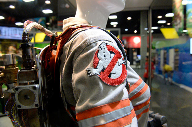 Restaurant Covers Building With Ghostbusters Decorations