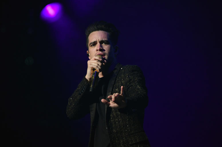 Brendon Urie of Panic! at the Disco performs at BB&T Center