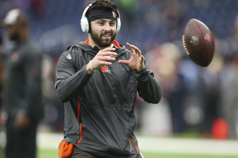 Baker Mayfield, Cleveland Browns, Football, Sports, Pregame, 2018
