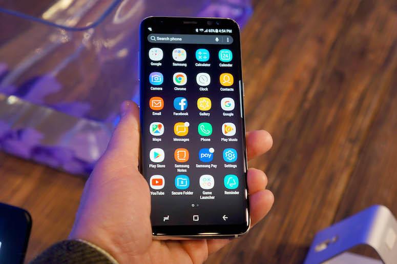 Samsung Galaxy S8, Phone, Home Screen, Apps