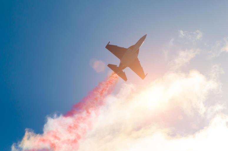 Airplane, Plane, Jet, Skywriting, Smoke Trail, Clouds