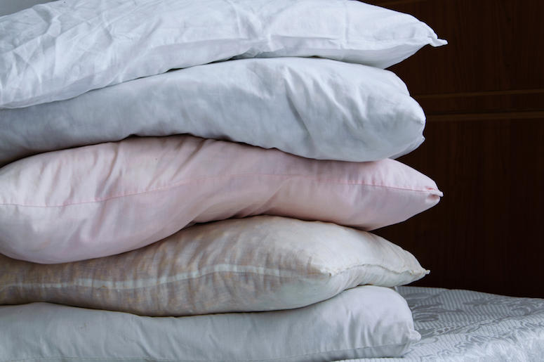 Pillows, Stack, Bed