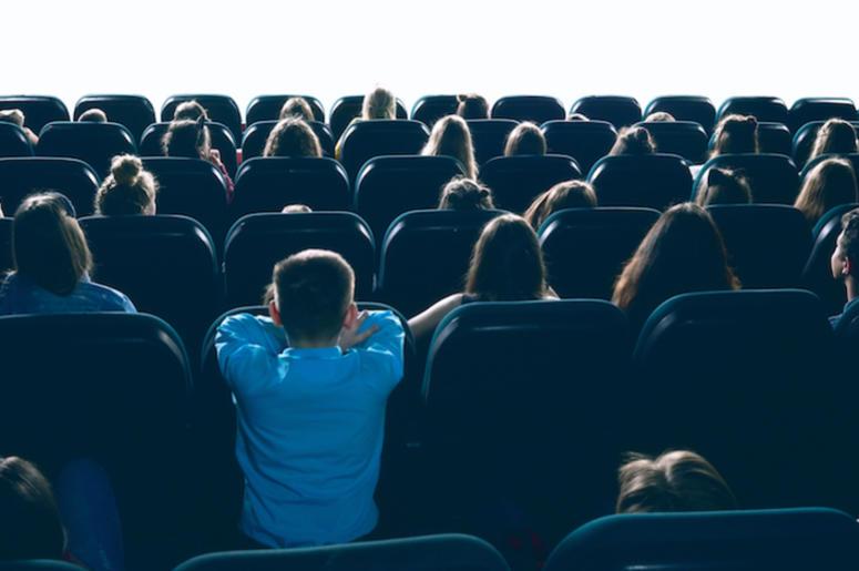 Movie Theater, Screen, White Screen