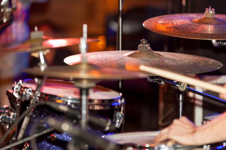 Drum Set, Drum Sticks, Hands, Drums