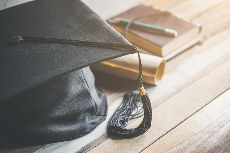 Graduation Cap, Tassel, Degree, Books