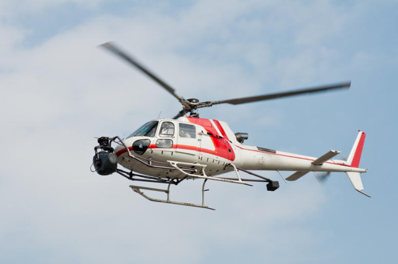 Helicopter equipped with camera