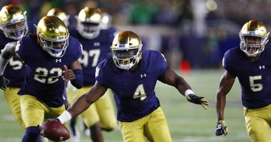 Notre Dame linebacker Te'von Coney