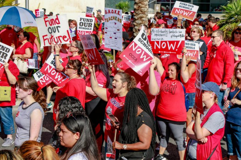 Clark County Teachers Affirm Strike Commitment If Funding: Clark County Teachers Union Sets Date For Potential Strike