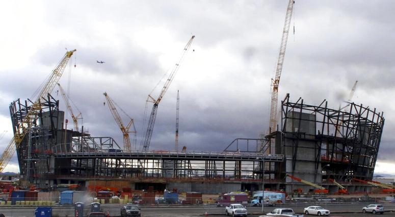 Las Vegas stadium construction; Jan. 2019