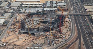 Allegiant Stadium construction