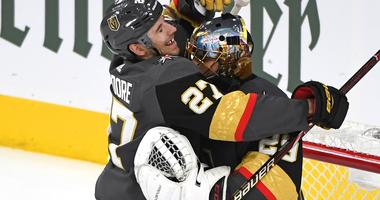 Fleury Gets 15th Playoff Shutout, Vegas Beats Sharks 5-0