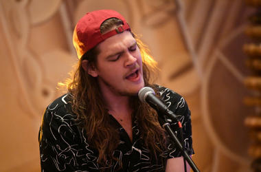 Brett Emmons of the Glorious Sons performs at the Hard Rock Hotel