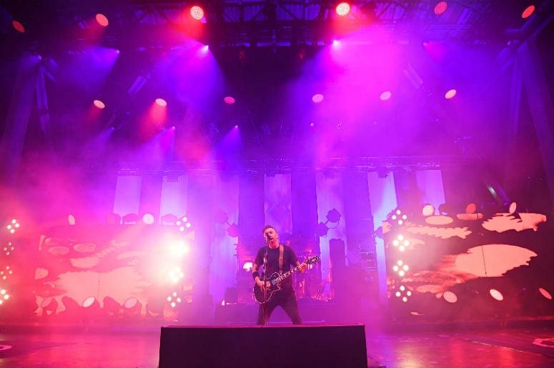 Tim McIlrath of Rise Against performs at the Bayfront Park Amphitheatre