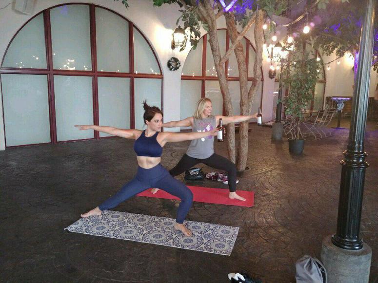 MjRadioDiva beer yoga