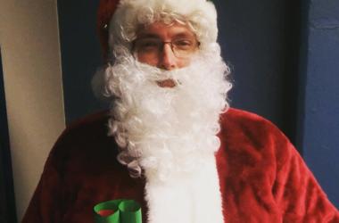 """Kevin """"The Intern"""" as Santa Claus"""