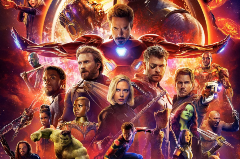 """Movie poster for """"Avengers: Infinity War"""" set to be released on April 27."""