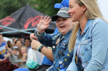 Laila Anderson at Blues Championship Parade and Rally June 15, 2019 in Downtown St. Louis