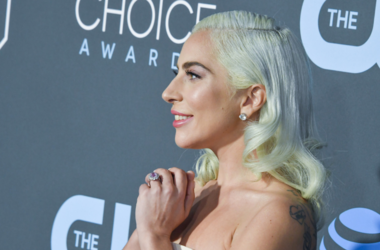 Lady Gaga at the 24th Annual Critics Choice Awards held at the Barker Hangar on January 13, 2019 in Santa Monica, CA
