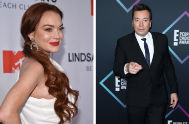 Lindsay Lohan and Jimmy Fallon