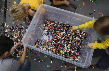 kids playing with legos