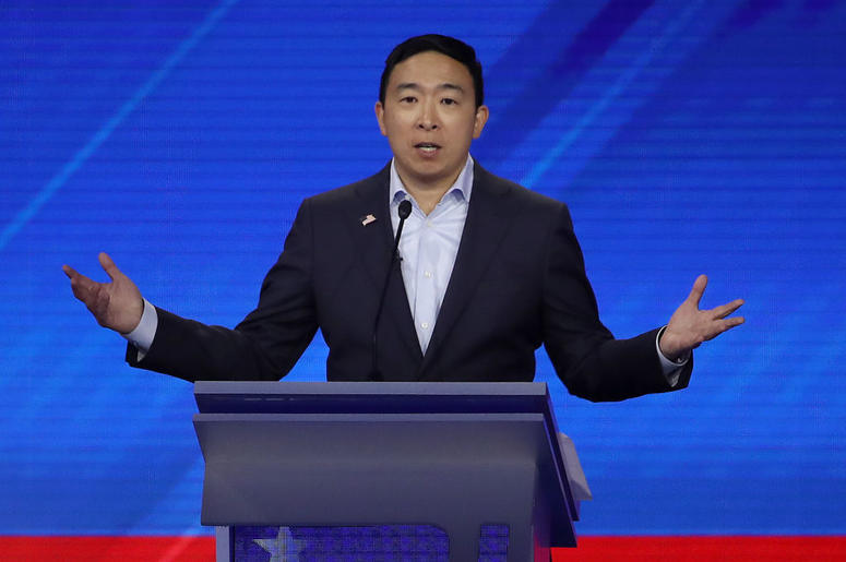 Image result for Andrew Yang Announced a $120,000 Sweepstakes During Last Night's Debate?