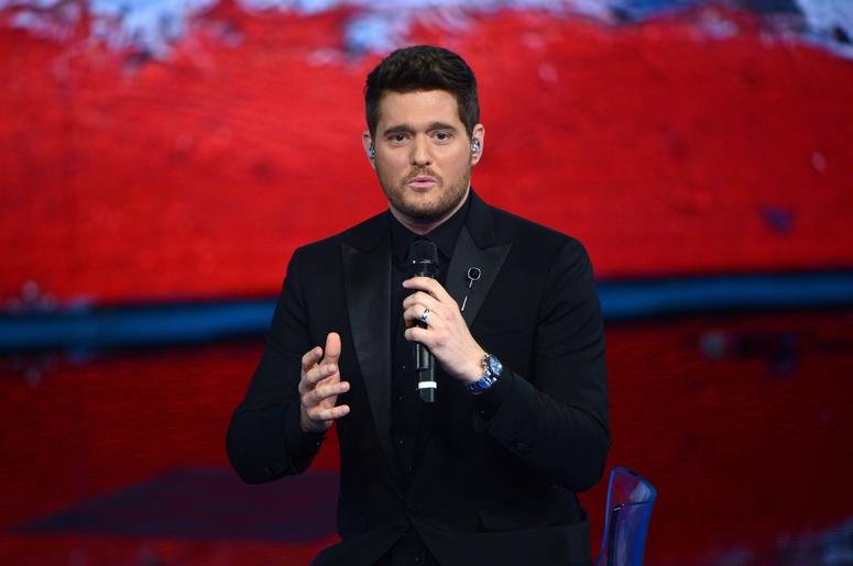 Michael Buble appearing on Che Tempo Che Fa filmed in Milan, Italy.