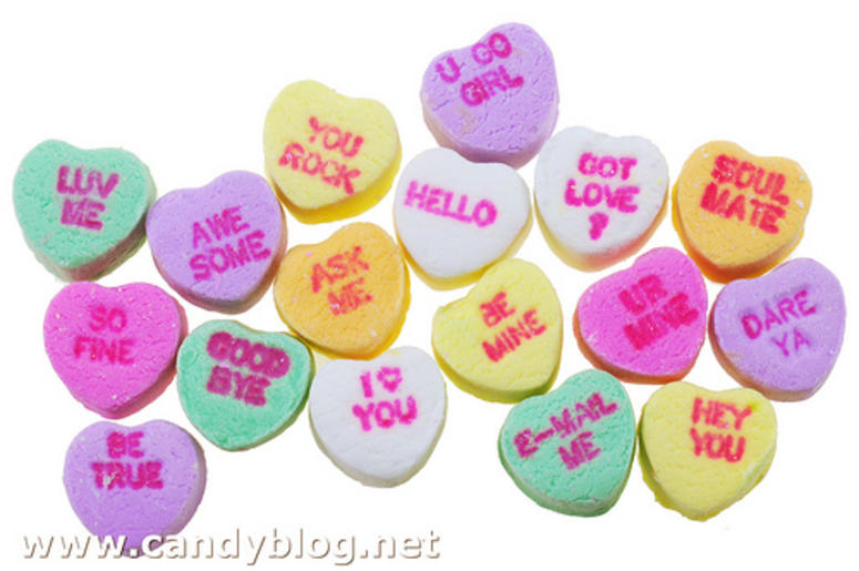 valentines heart candy be mine