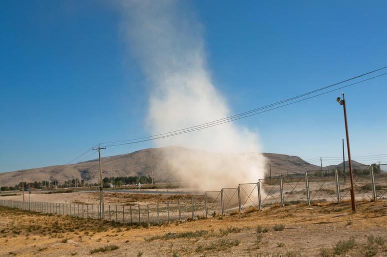 Viral Video: Man Walks Through Dust Devil Tornado | Y98Dust Devil Tornadoes