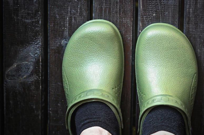 5f06ac9b2 Look  Crocs With Built-In Tube Socks