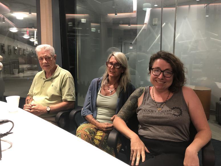John Dodds,  Dr. Lynne Andersson, Emily Guendelsberger