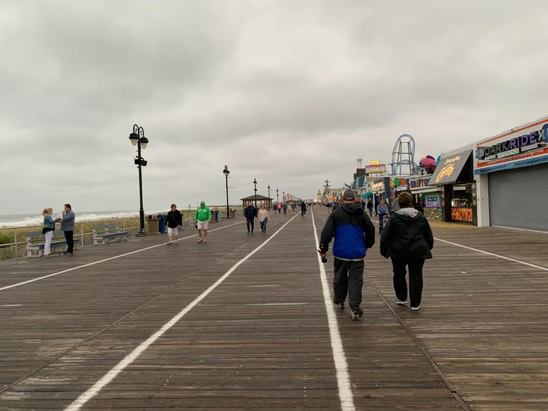 Walking the boardwalk in Ocean City