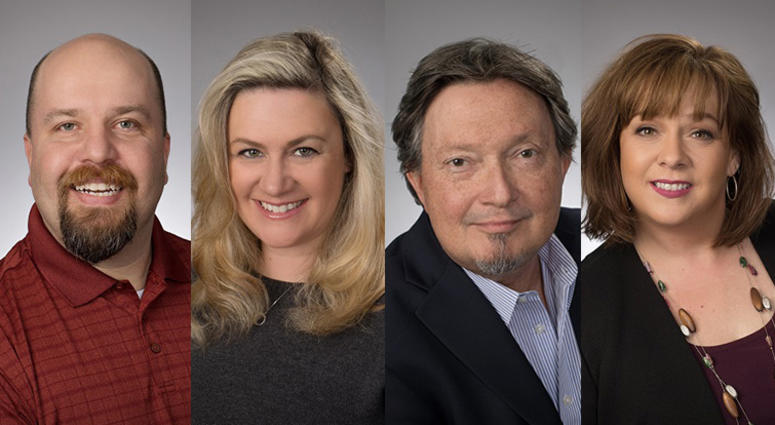Michelle Durham and Steve Nikazy, with Stevie Reese and Justic Drabick on Traffic and Matt Leon with Sports