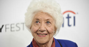 """In this Sept. 15, 2014 file photo, Charlotte Rae arrives at the 2014 PALEYFEST Fall TV Previews - """"The Facts of Life"""" Reunion in Beverly Hills, Calif."""