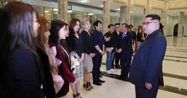 A group of South Korean musicians went to North Korea and did their first performance on April 1st, 2018 in Pyongyang.  Kim Jong Un and his wife Ri Sol Ju attended.