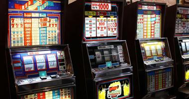 Slot machines in the casino.