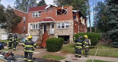 A house gas explosion in Torresdale