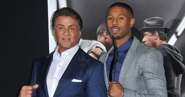 "L-R) Sylvester Stallone and Michael B. Jordan arrives at the ""Creed"" Los Angeles Premiere held at the Regency Village Theater in Westwood, CA on Thursday, November 19, 2015."